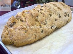 Bread Without Yeast, Olive Bread, Vegetarian Recipes, Cooking Recipes, Bread Cake, Kitchen Time, Greek Recipes, Finger Foods, Food To Make