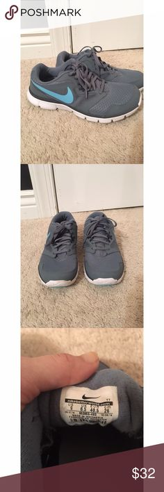 Grey Nike Tennis Shoes These shoes have only been worn once and are in perfect condition. Nike Shoes Sneakers