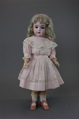 Kestner 171 Daisy Doll - 1910 - unusual in that she has brown eyes and IS original and authenticated .