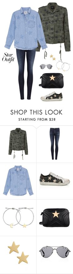 """""""Subtle Stars"""" by abmcgrath ❤ liked on Polyvore featuring Rails, AG Adriano Goldschmied, Madewell, STELLA McCARTNEY, Givenchy, denim, camo and StarOutfits"""