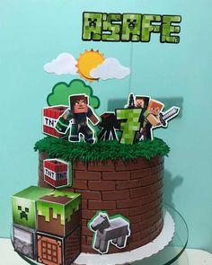 Mine Craft Party, Minecraft Birthday Cake, Minecraft Cake, Mini Craft, Birthday Decorations, Cake Designs, Geo, Diana, Manicure