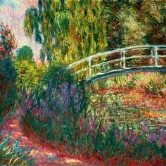 Japanische Brücke...  by Claude Monet Monet Paintings, Impressionist Paintings, Landscape Paintings, French Paintings, Claude Monet, Lily Pond, Artist Monet, Water Lilies, Canvas Wall Art