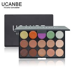 UCANBE Merk 3 verschillende kleuren Professionele 15 Kleur Camouflage Facial Concealer Paletten Neutrale Make Cosmetische
