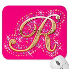 R Alphabet In Diamond monogram want r for renee rashon carraway for rach letter r see more 7 ...