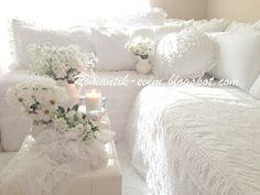 My Shabby Chic Home ~ Romantik Evim ~Romantik Ev: Romantik ev:@ My Living Room - Oturma Odasi romantik ev salon