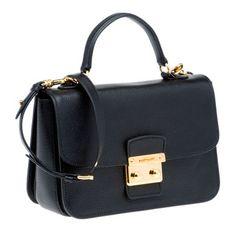 MiuMiu - black madras goat leather SHOULDER BAG