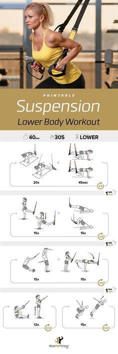 TRX Low Body Workout | Posted By: CustomWeightLossProgram.com
