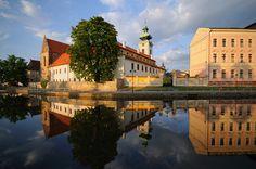 Dominikánský klášter České Budějovice Czech Republic, Most Beautiful Pictures, Cities, Southern, Vacation, Mansions, House Styles, Places, Bohemia