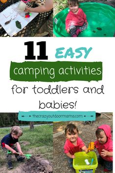 If you're looking for some fun camping activities to keep your babies or toddlers busy around camp, you will love this easy list of fun camping ideas with kids! #camping #kids #summer