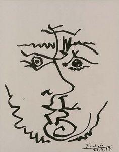 Visage, 1967 Pablo Picasso.