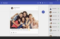 Facebook Web with Material Design. #facebook  #concept  #materialdesign …