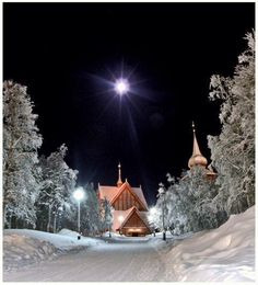 I know that Christmas is still a few months away but I couldn't resist this! Kiruna, Norrbotten #slientnight