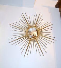 Miroir soleil Chaty Vallauris AM ,oeil de sorcière (bombé), signé , miror, de la boutique atelierdelachoisille sur Etsy