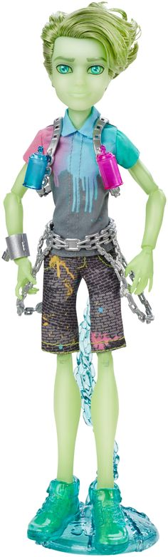 Amazon.com: Monster High Haunted Student Spirits Porter Geiss Doll: Toys & Games