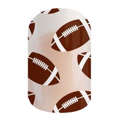 Footballs on Clear | Jamberry Nails The only pre-game toss up here will be deciding whether to layer over nail wraps or lacquers. #FOOTBALLSONCLEARJN