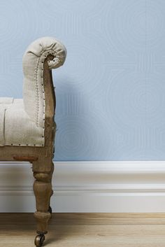 Porter's Paints Collection :: 'Nairobi Dusk' wallpaper in colourway Calm Blue