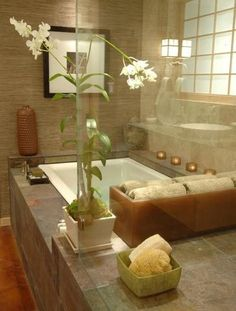 1000 ideas about zen bathroom decor on pinterest bamboo bathroom tub to shower conversion - Oriental bathroom decor ...