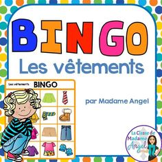 Les vêtements: Fun Bingo game to practice Clothing vocabulary in French! Vocabulary Activities, Reading Activities, Vocabulary Words, Basic French Words, How To Speak French, French Teaching Resources, Teaching French, Core French, French Teacher