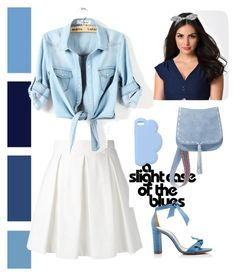 """""""Spring Blues"""" by fluffyflavi on Polyvore featuring Boutique Moschino, Alexandre Birman, STELLA McCARTNEY, Banned and Steve Madden"""