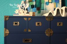 The Turquoise Iris ~ Vintage Modern Home: Benjamin Moore's Old Navy Campaign Dresser