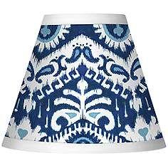 Batik Blue Giclee Set of Four Shades 3x6x5 (Clip-On)