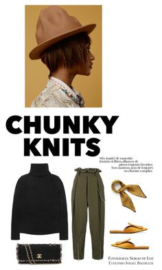 """""""Chunky"""" by iriadna ❤ liked on Polyvore featuring Alexander Wang, Marni, Mulberry, Dunn, Kenzo, Chanel, mules, fallstyle and chunkyknits"""