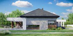 DOM.PL™ - Projekt domu CPT HomeKONCEPT-31 CE - DOM CP1-34 - gotowy koszt budowy Home Building Design, Building A House, Villa Design, House Design, Bungalow Style House, House Construction Plan, Gazebo, House Plans, 1