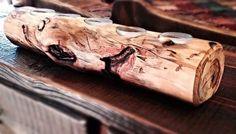 Aspen Log Candle Holder #candleholder. }logcandleholder #etsy