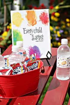 Lots of art party ideas here - could combine some of the ideas and paint with colors at the party