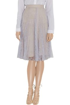 Ez pleated lace skirt by Erdem