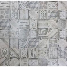 Graue Patchwork Fliesen | Vintage Bodenfliese Olymp 25x25 ► Günstig kaufen ► Kostenloses Muster