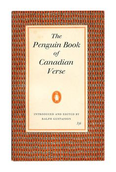 The Penguin Book of Canadian VerseMatthew Arnold, A Selection, Penguin Poets. 1958. Available to buy from www.brindled.co.uk