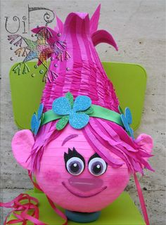 See related links to what you are looking for. Birthday Pinata, Trolls Birthday Party, Troll Party, 4th Birthday Parties, Deco Ballon, Rosalie, Third Birthday, Party Time, Alice