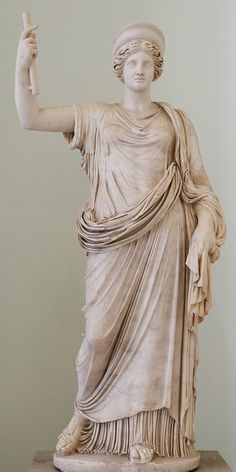 Juno (Hera), Roman statue (marble) copy of Greek original, 1st century AD (original 4th c. BC), (Museo Archeologico Nazionale, Naples).