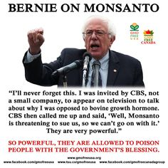 Monsanto represents a clear and present danger to the US national security and if there was a better example of eminent domain I've never seen it.