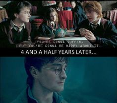 Ron predicted something that came true? //// are you surprised?? He predicted the triwizard tournaments???