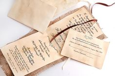 Items similar to Traditional Wedding Invitations Vintage - Burlap Invitations - Rustic Invitations - Set of Invitation and RSVP both with envelopes on Etsy Plan My Wedding, Our Wedding, Wedding Ideas, Wedding Stuff, Traditional Wedding Invitations, Vintage Wedding Invitations, Burlap Invitations, Invites, Invitation Set
