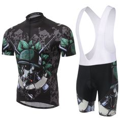 Amazon.com : BESYL Unisex The Soldier of The Skull Print Printed High-Performance Mesh Cycling Clothing Suit, Cycling Jerseys Short Sleeve and Cycling Shorts Suit for Bike, Biker, Bicycle, Riding : Sports & Outdoors
