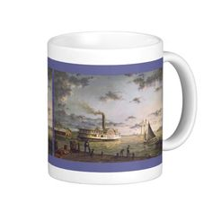 "Shop Paul McGehee ""Chesapeake Bay Harbor"" Mug created by MCGEHEEWORLD. Baltimore Maryland, Chesapeake Bay, Farms, Landing, The Past, Window, River, Mugs, Artist"