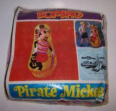 "Walt Disney World Pirate Mickey 36"" Inflatable Bop Bag Ideal"