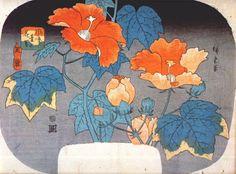 Hibiscus, 1845 - Hiroshige
