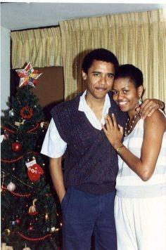 La hermosa pareja Obama