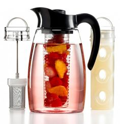 The Primula Flavor It Beverage System 3-in-1 Infuser Pitcher is designed for relaxing. The slow-moving kitchen gadget does all the work.