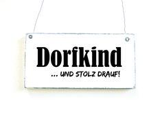 DORFKIND Dekoschild Türschild Vintage Shabby  von DöRPKIND auf DaWanda.com