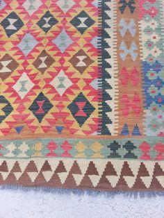Größe: 8.2 ft von 57 handgemachte Kilim von Carpetsmall auf Etsy