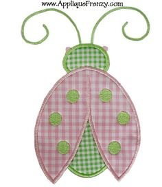 Ladybug Applique 4x4 and 5x7 machine embroidery by AppliqueFrenzy, $3.99  I will find something to do with this.