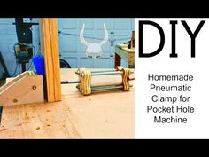 Homemade PVC Air Cylinder for a Pocket Hole Machine Woodworking Jigs, Woodworking Projects, Pocket Hole Jig, Kreg Jig, Homemade Tools, Wood Projects, Swan, Youtube, Workshop