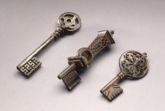 French Keys, 18th century - Forged and cut iron -                                Photo credit John Nienhuis