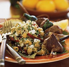 Bulgur & Chickpea Salad with Sun-Dried Tomatoes, Feta & Mint