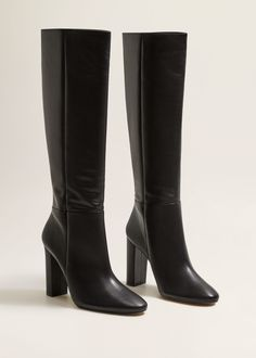fed478e0cfb8 Leather high-leg boots - Women